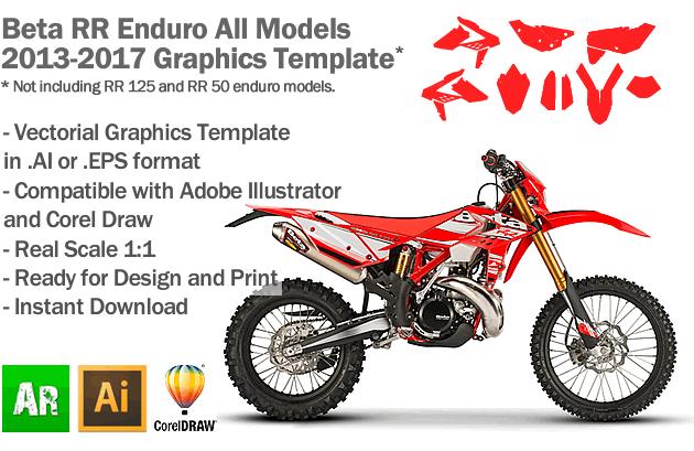 Beta RR Enduro All Models 2013 2014 2015 2016 2017 Graphics Template