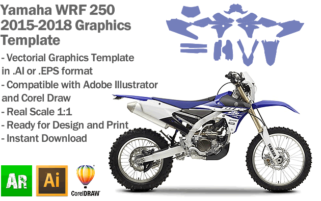 Yamaha WRF 250 Enduro 2015 2016 2017 2018 Graphics Template