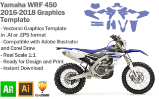 Yamaha WRF 450 Enduro 2016 2017 2018 Graphics Template