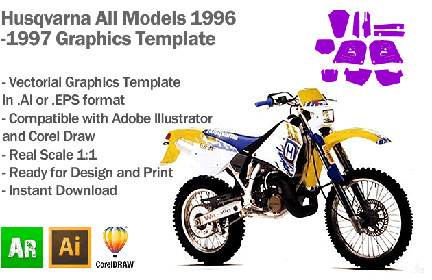 Husqvarna All Models 1996 1997 Graphics Template
