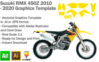 Suzuki RMX 450Z Enduro 2010 2011 2012 2013 2014 2015 2016 2017 2018 2019 2020 Graphics Template