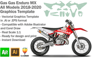 Gas Gas Enduro MX Motocross All Models 2018 2019 2020 Graphics Template