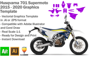 Husqvarna 701 Supermoto 2015 2016 2017 2018 2019 2020 Graphics Template