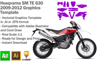 Husqvarna SM TE 630 2009 2010 2011 2012 Graphics Template