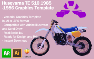 Husqvarna TE 510 1985 1986 Graphics Template