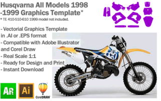 Husqvarna All Models 1998 1999 Graphics Template