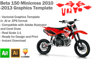 Beta 150 Minicross 2010 2011 2012 2013 Graphics Template
