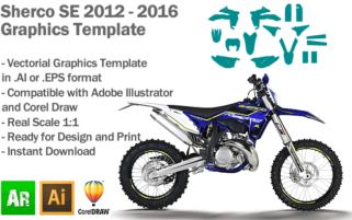 Sherco SE Enduro 2012 2013 2014 2015 2016 Graphics Template