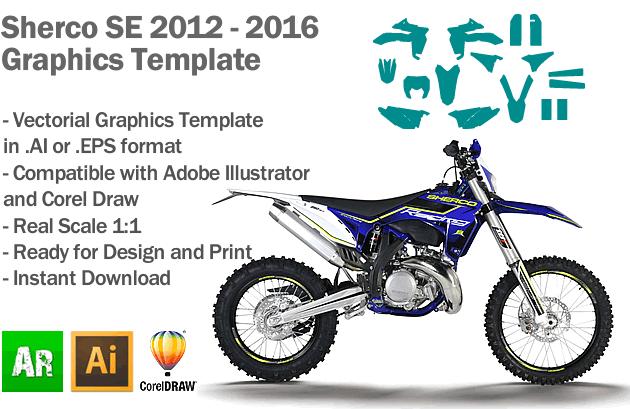 Sherco SE Enduro 2012 2013 2014 2015 2016 Graphics Template