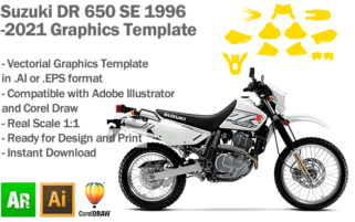 Suzuki DR 650 SE Trail Enduro 1996 2021 Graphics Template