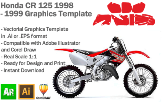 Honda CR 125 MX Motocross 1998 1999 Graphics Template