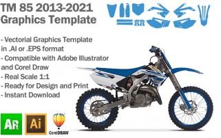 TM 85 MX Motocross 2013 2014 2015 2016 2017 2018 2019 2020 2021 Graphics Template