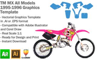 TM MX Motocross All Models 1995 1996 Graphics Template