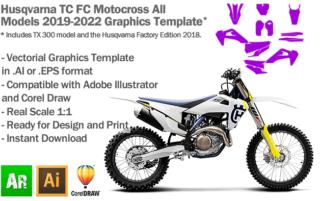 Husqvarna TC FC MX Motocross All Models 2019 2020 2021 2022 Graphics Template