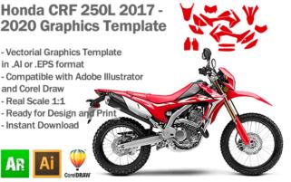 Honda CRF 250L Enduro 2017 2018 2019 2020 2020 Graphics Template