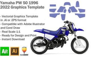 Yamaha PW 50 MX Motocross 1996-2022 Graphics Template