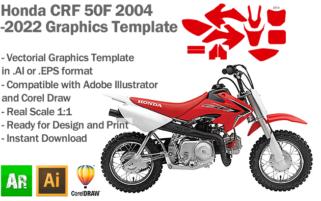 Honda CRF 50F 2004 2005 2006 2007 2008 2009 2010 2011 2012 2013 2014 2015 2016 2017 2018 2019 2020 2021 2022 Graphics Template