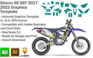 Sherco SE SEF Enduro 2017 2018 2019 2020 2021 2022 Graphics Template