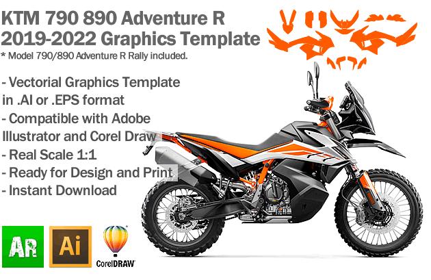 KTM 790 890 Adventure R 2019 2020 2021 2022 Graphics Template