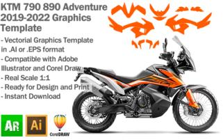 KTM 790 890 Adventure 2019 2020 2021 2022 Graphics Template