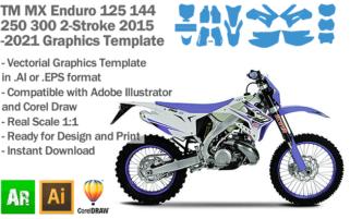 TM MX Motocross Enduro 125 144 250 300 2-Stroke 2015 2016 2017 2018 2019 2020 2021 Graphics Template