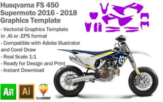 Husqvarna FS 450 Supermoto 2016 2017 2018 Graphics Template