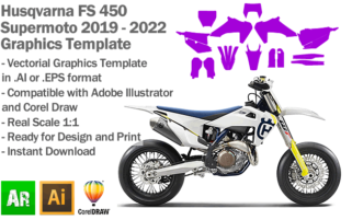 Husqvarna FS 450 Supermoto 2019 2020 2021 2022 Graphics Template